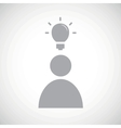Grey idea icon 1 vector image
