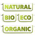 organic bookmarks vector image