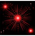 glowing red snowflake vector image