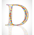 Abstract letter D vector image