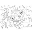 childrens cartoon coloring of the holiday vector image