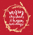 Christmas wreath Hand lettering vector image