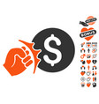 crime racket icon with dating bonus vector image