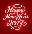 Happy new year 2017 lettering greeting card design vector image