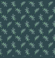 oak leaves green seamless pattern vector image