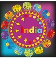 Ornament with Indian elephants vector image