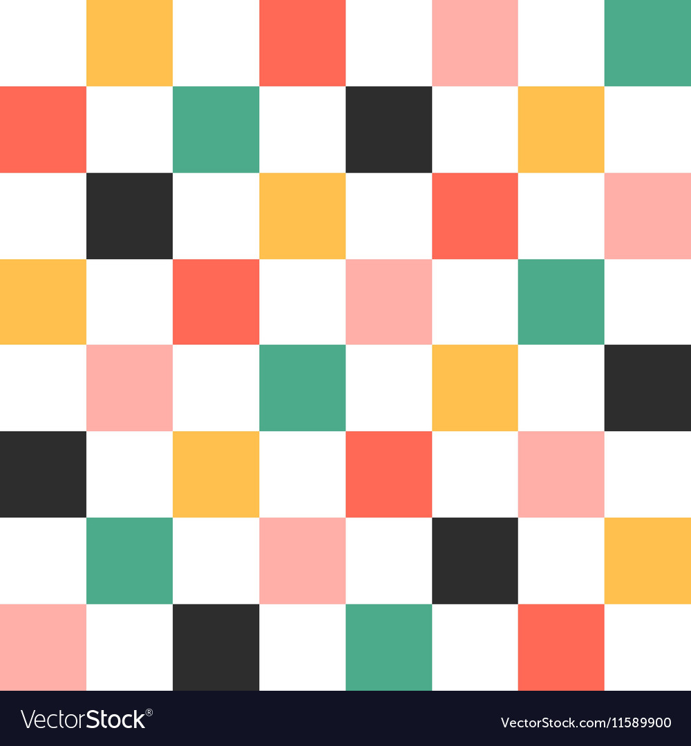 Colorful chess board background vector