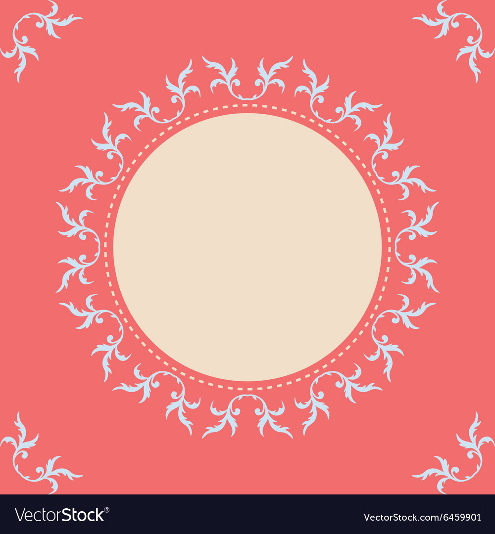 Round frame with corner and place for text vector