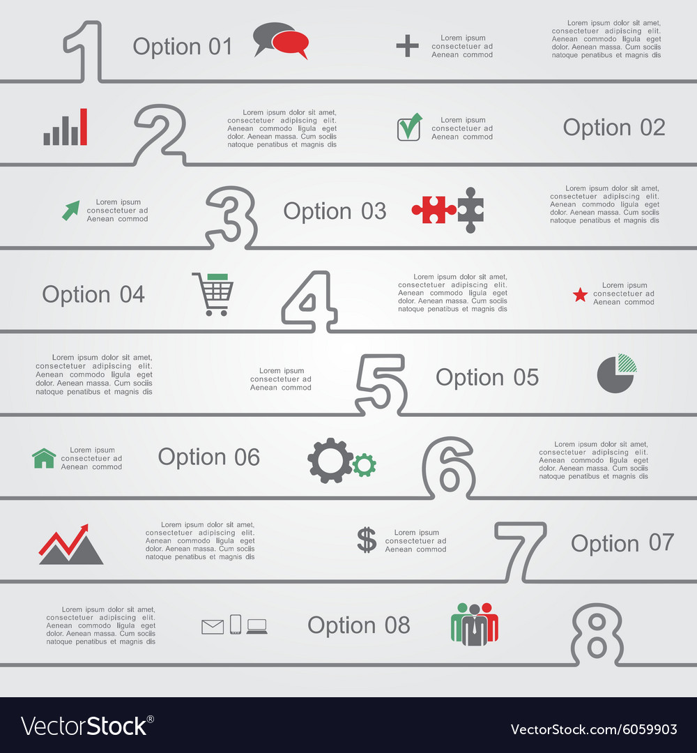 Infographic report template with numbers and icons vector