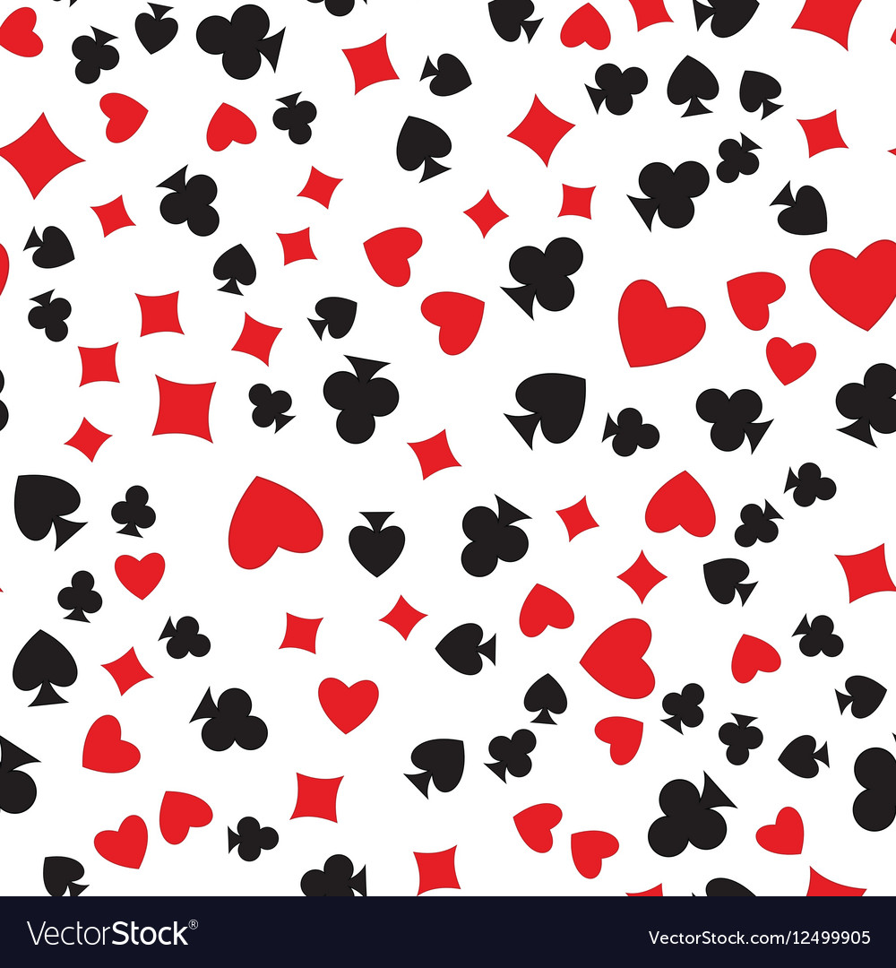 Playing cards suits seamless pattern vector