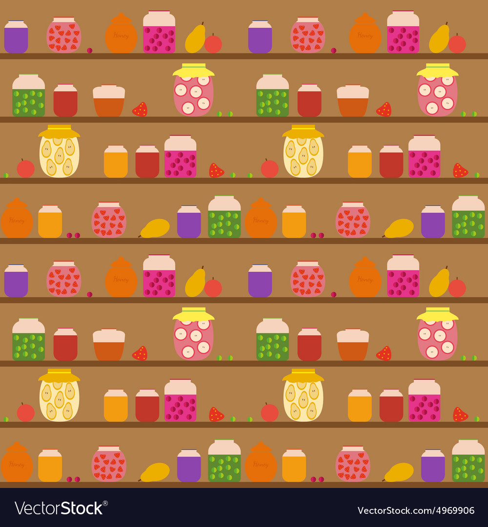 Seamless pattern with banks with different jam vector