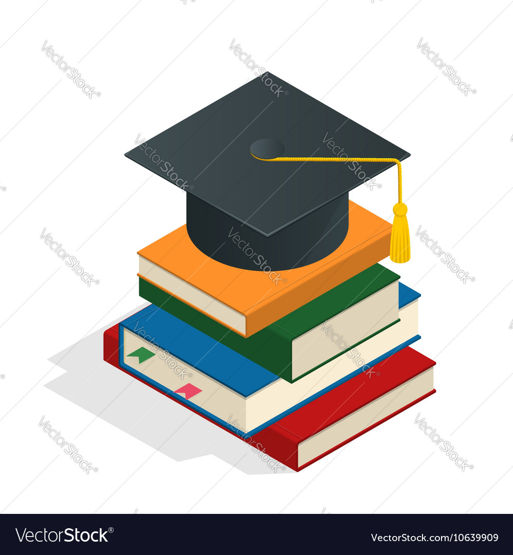 Isometric graduation concept heap of vector