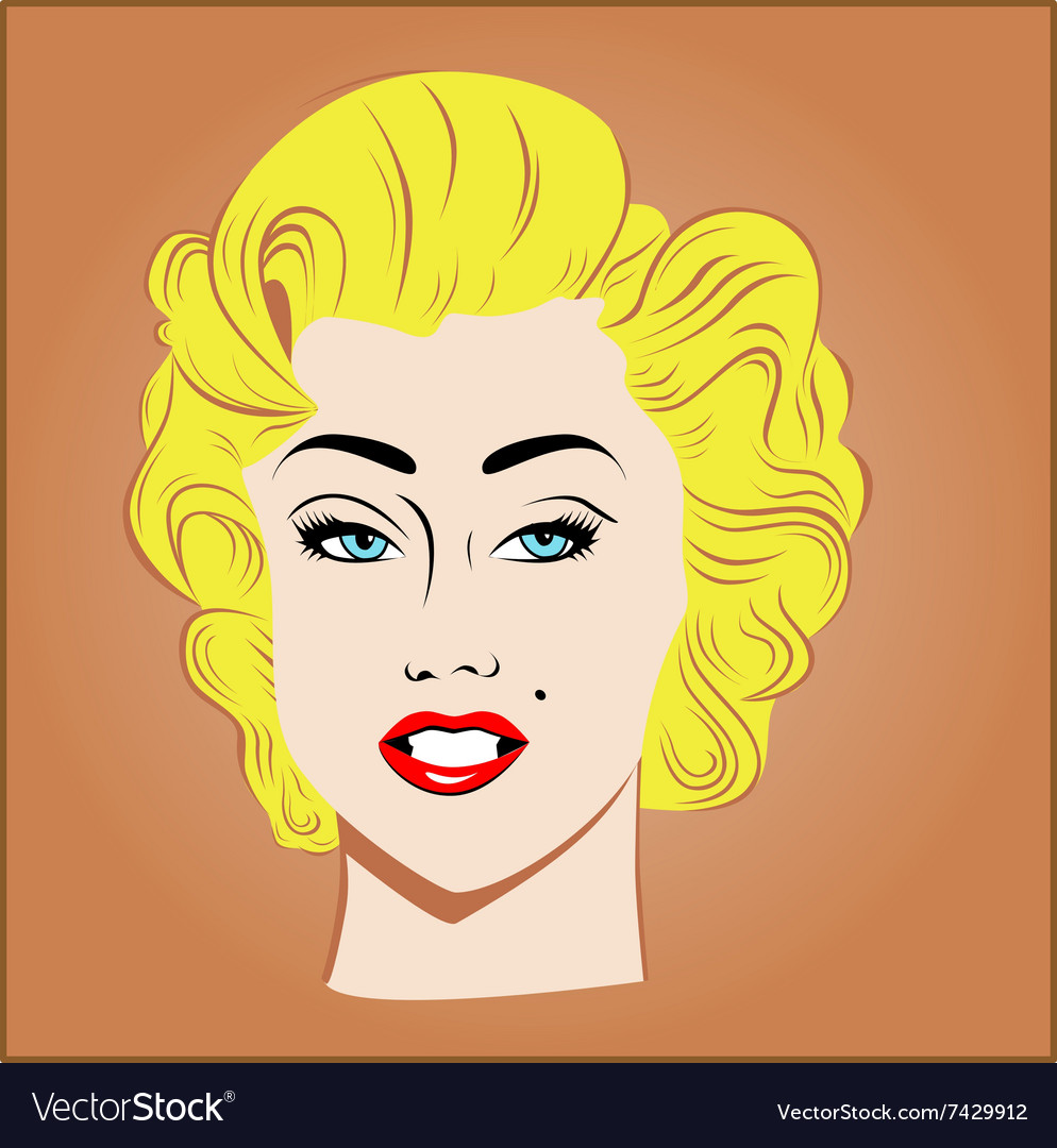 Blonde girl vector