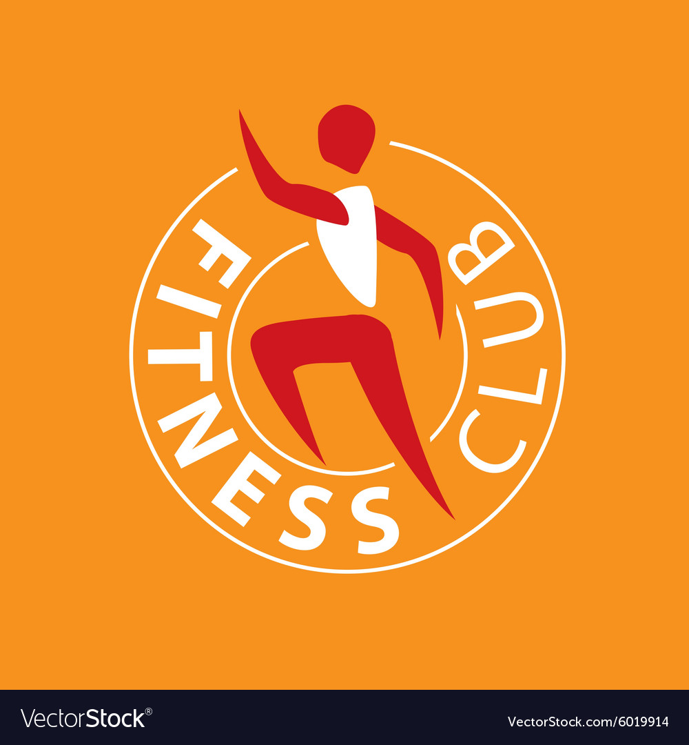 Logo man running for fitness club vector