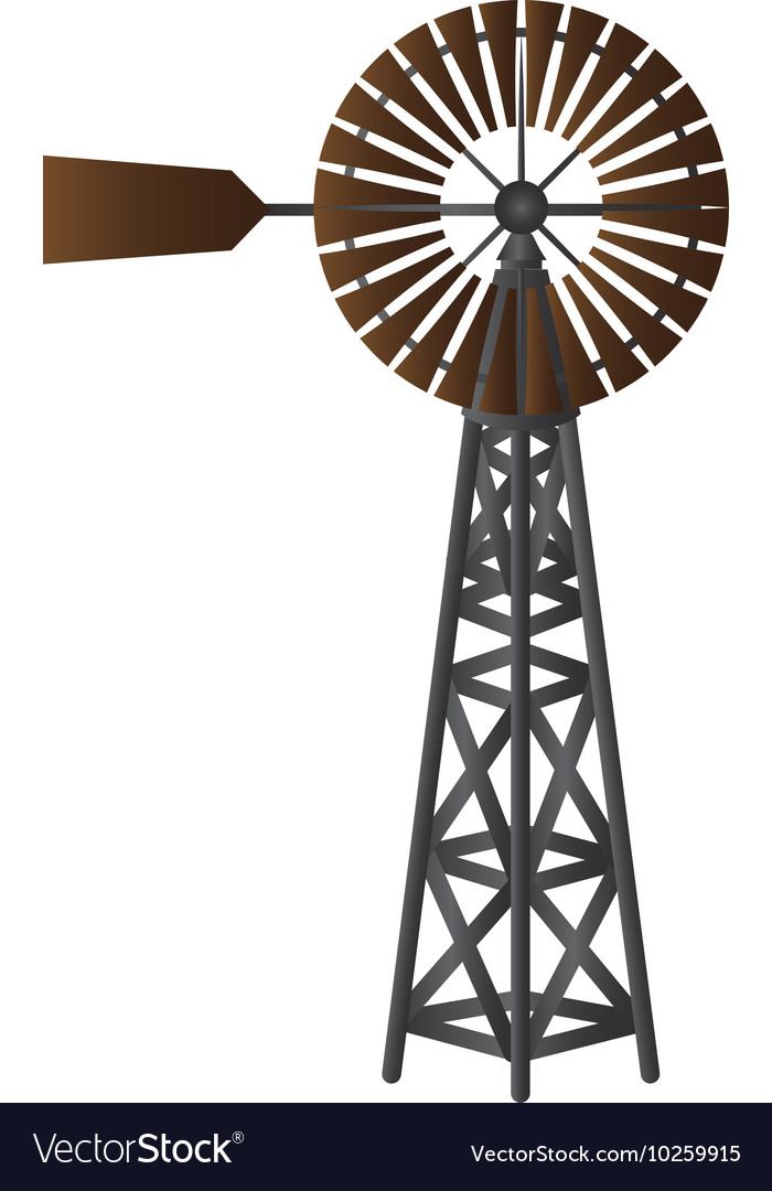 Windmill air nature vector