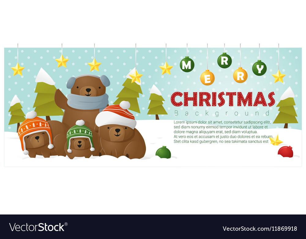 Merry christmas and happy new year background with vector