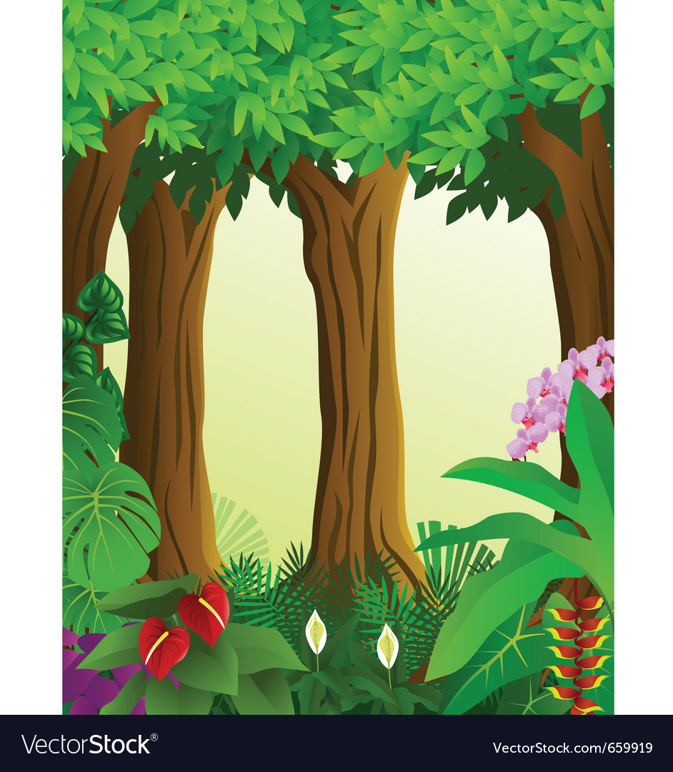 Green forest vector