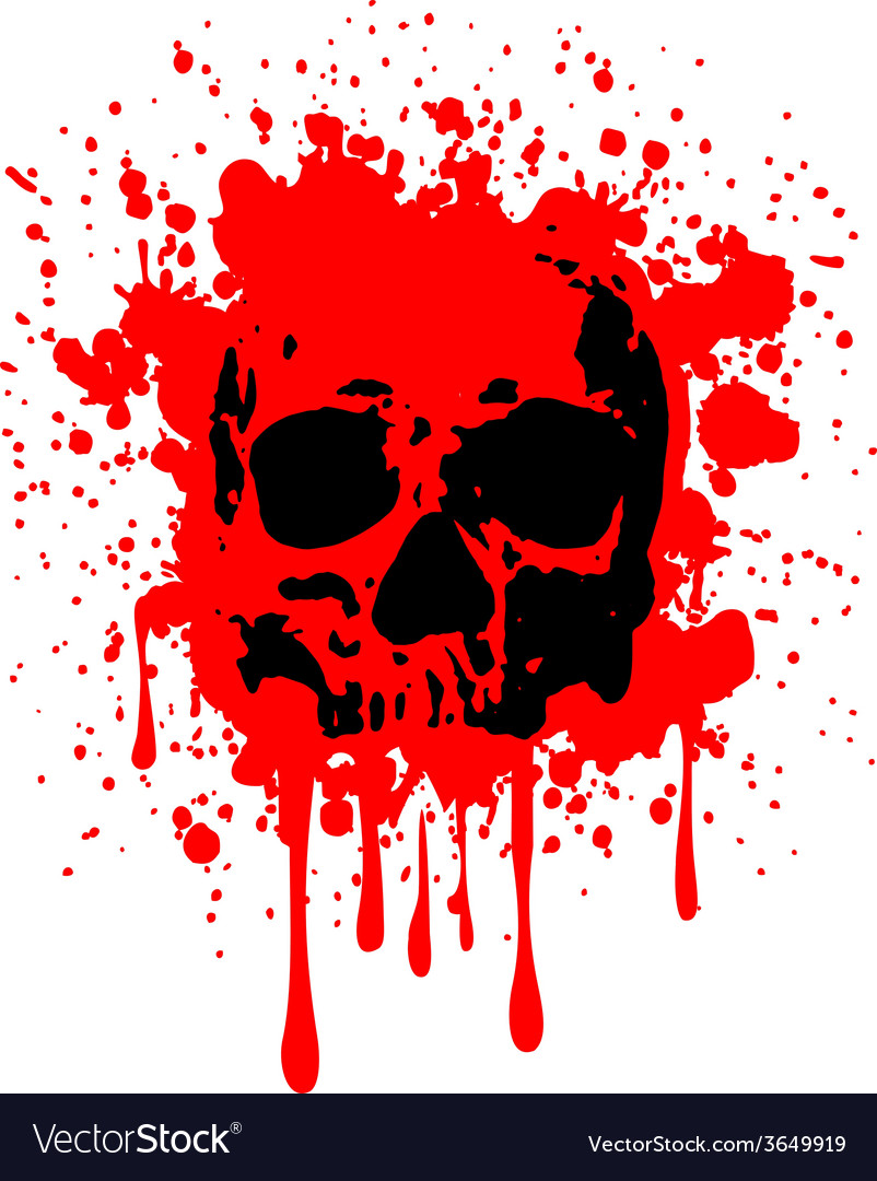 Skull blood vector