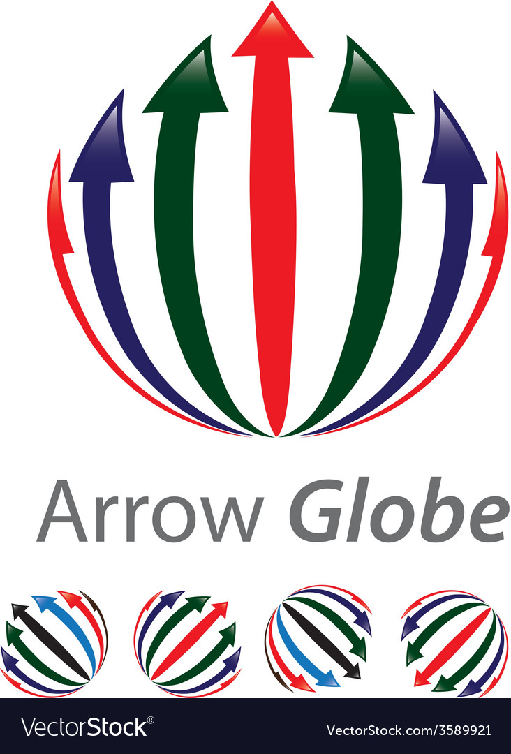 Arrow globe vector