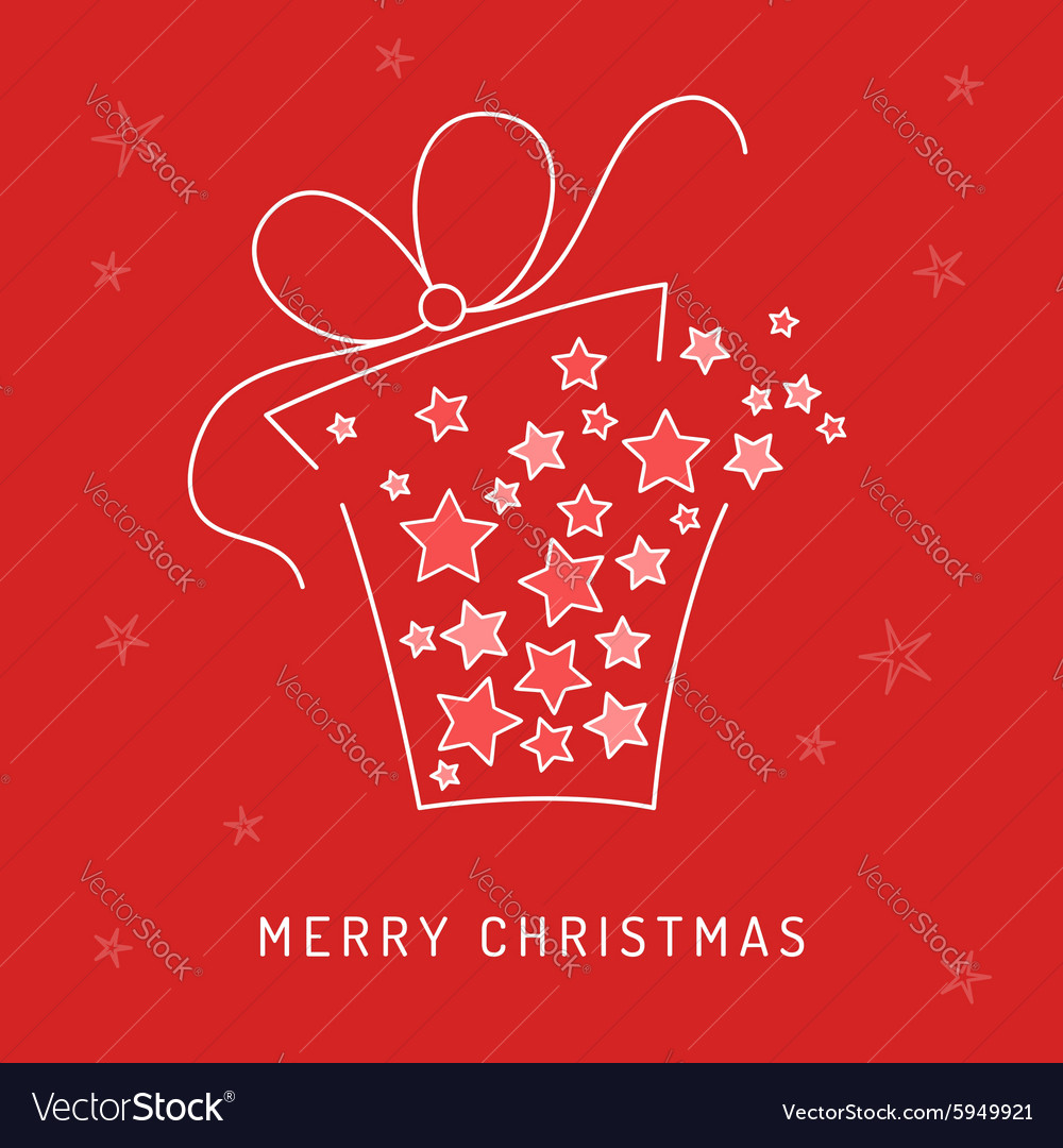 Christmas card gift vector