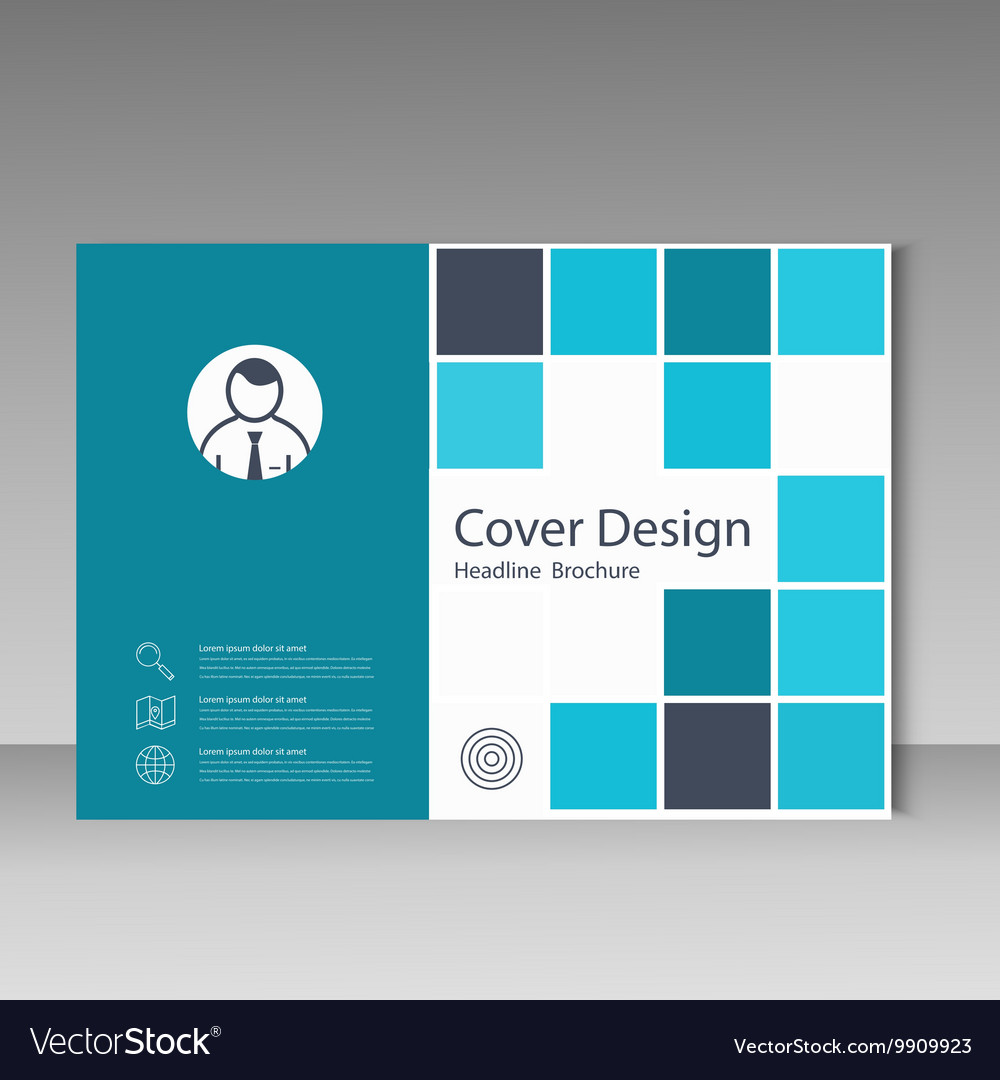 Abstract brochure template design with squares vector