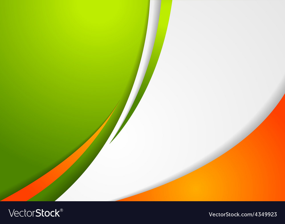 Corporate wavy abstract background irish colors vector