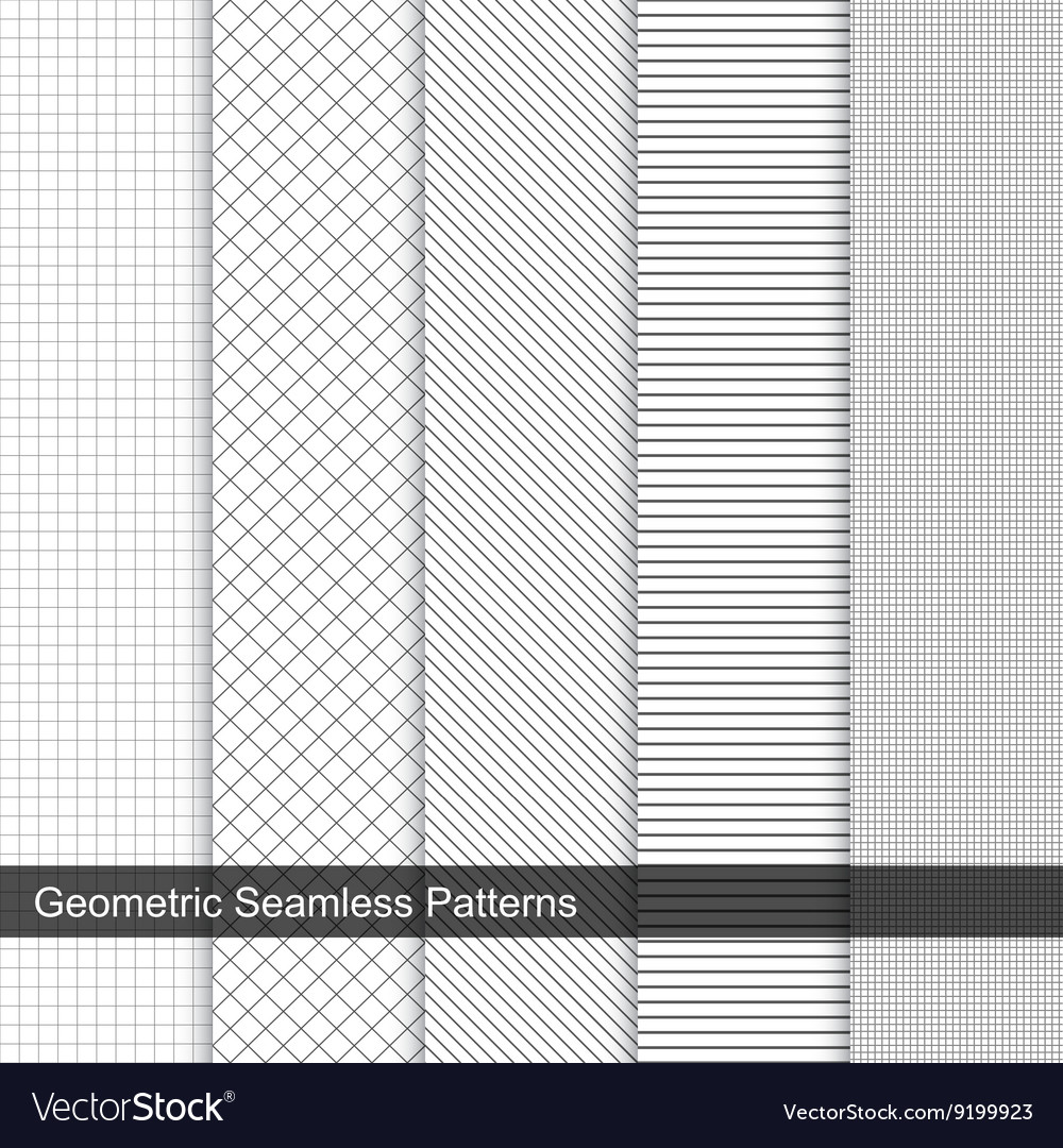 Grid geometric patterns vector