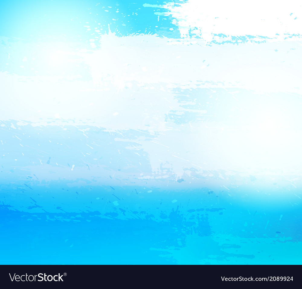 Abstract grunge blue background vector