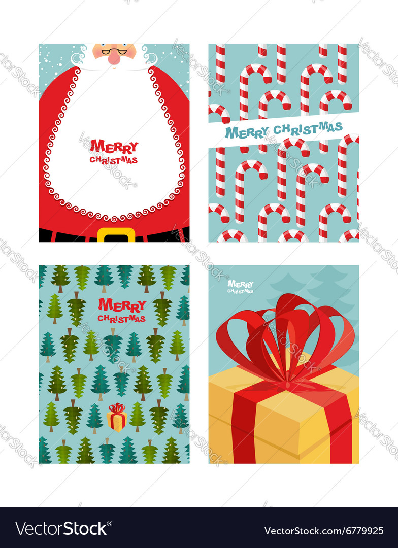 Collection card templates christmas and new year vector