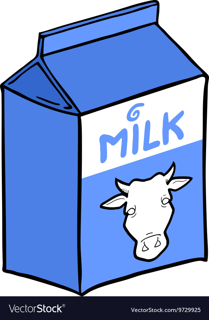 Milk box design vector