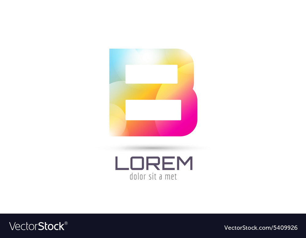 B logo template abstract arrow shape and vector