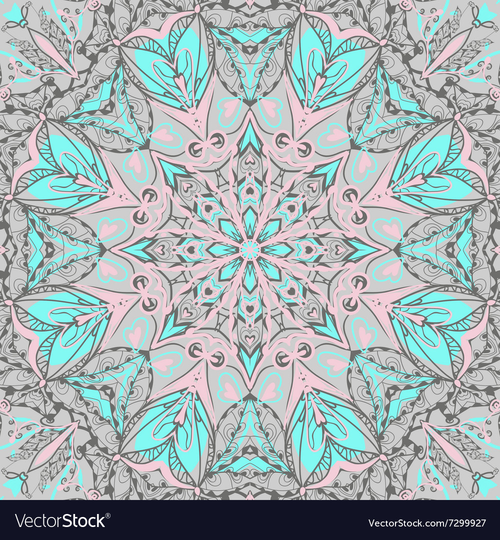Traditional ornamental paisley bandanna hand vector