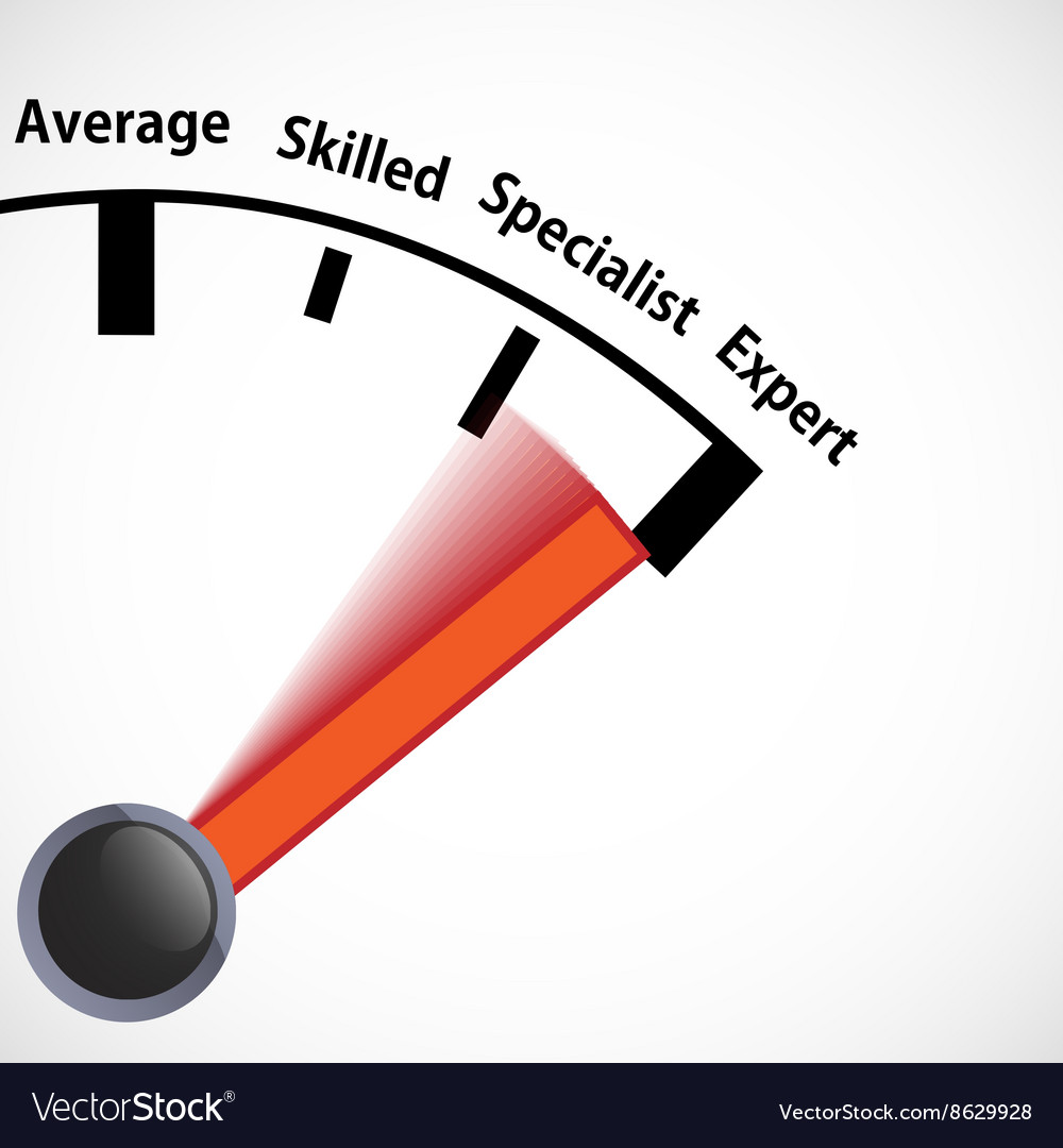 Skill level speedometer vector