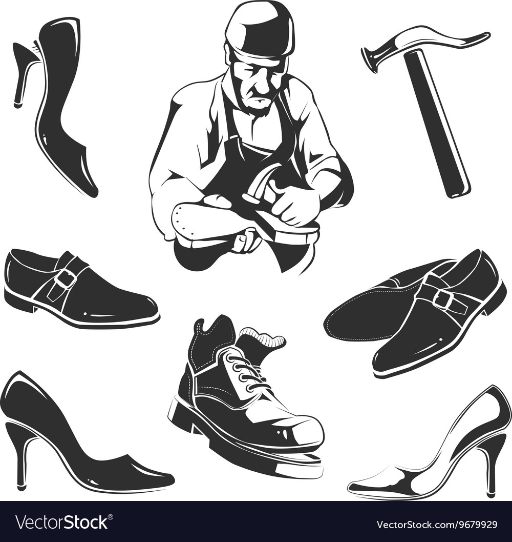 Shoes repair vector