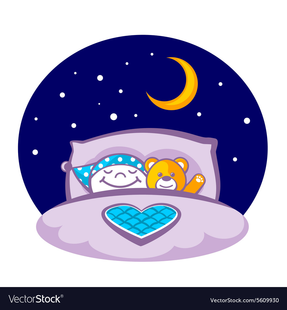 Sleeping child vector
