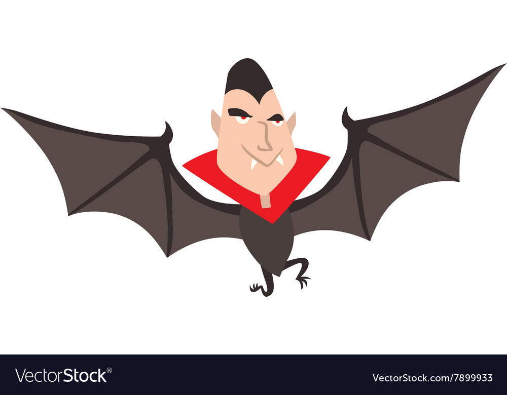 Cartoon dracula halloween vector