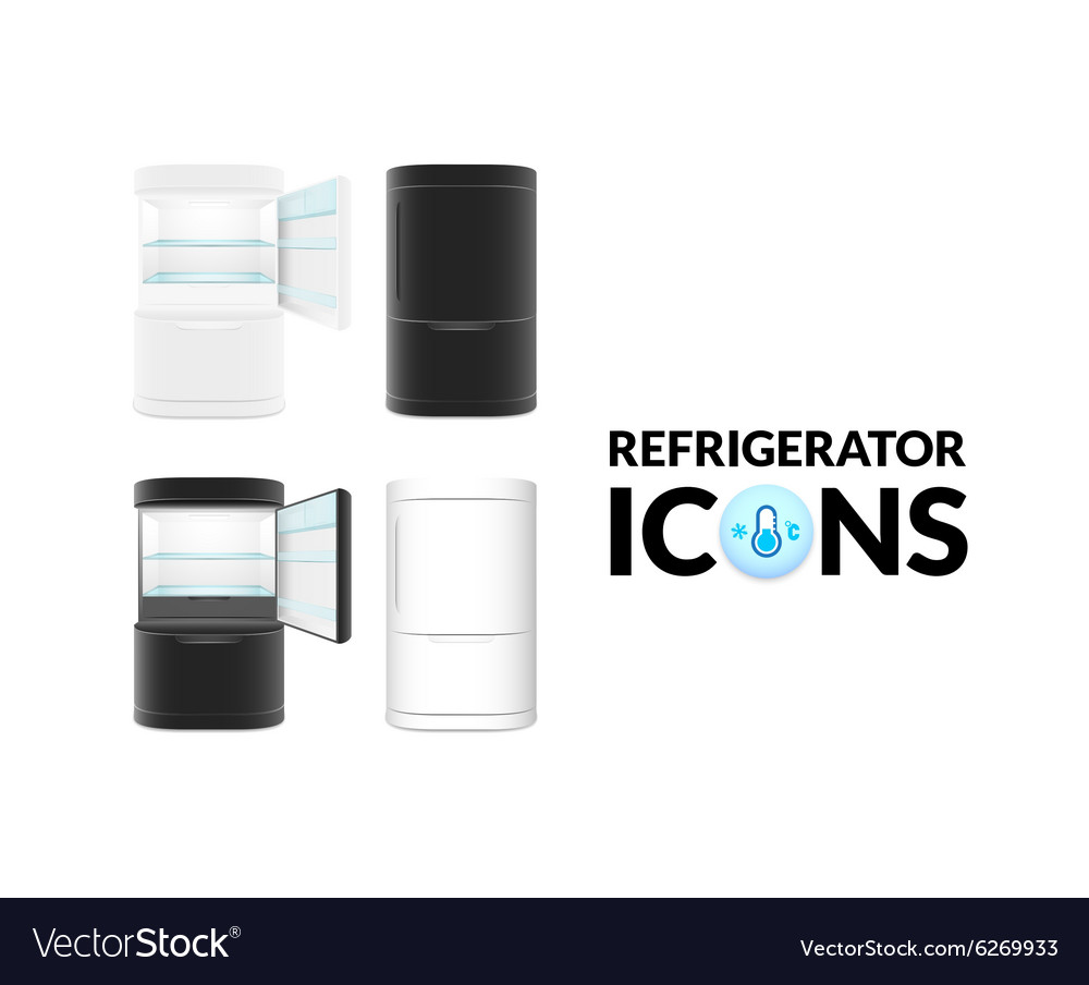 Modern refrigerator isolated on white background vector