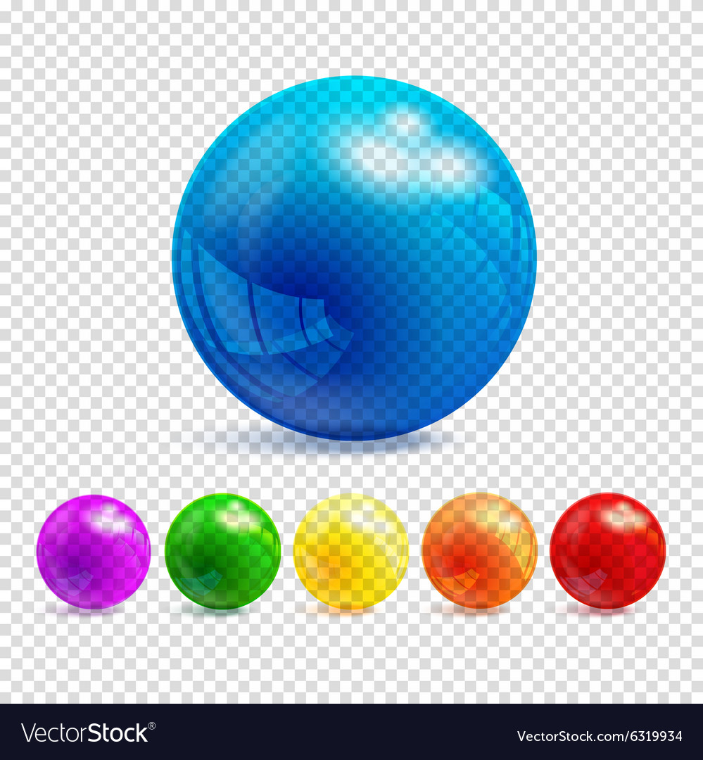 3d transparency sphere vector