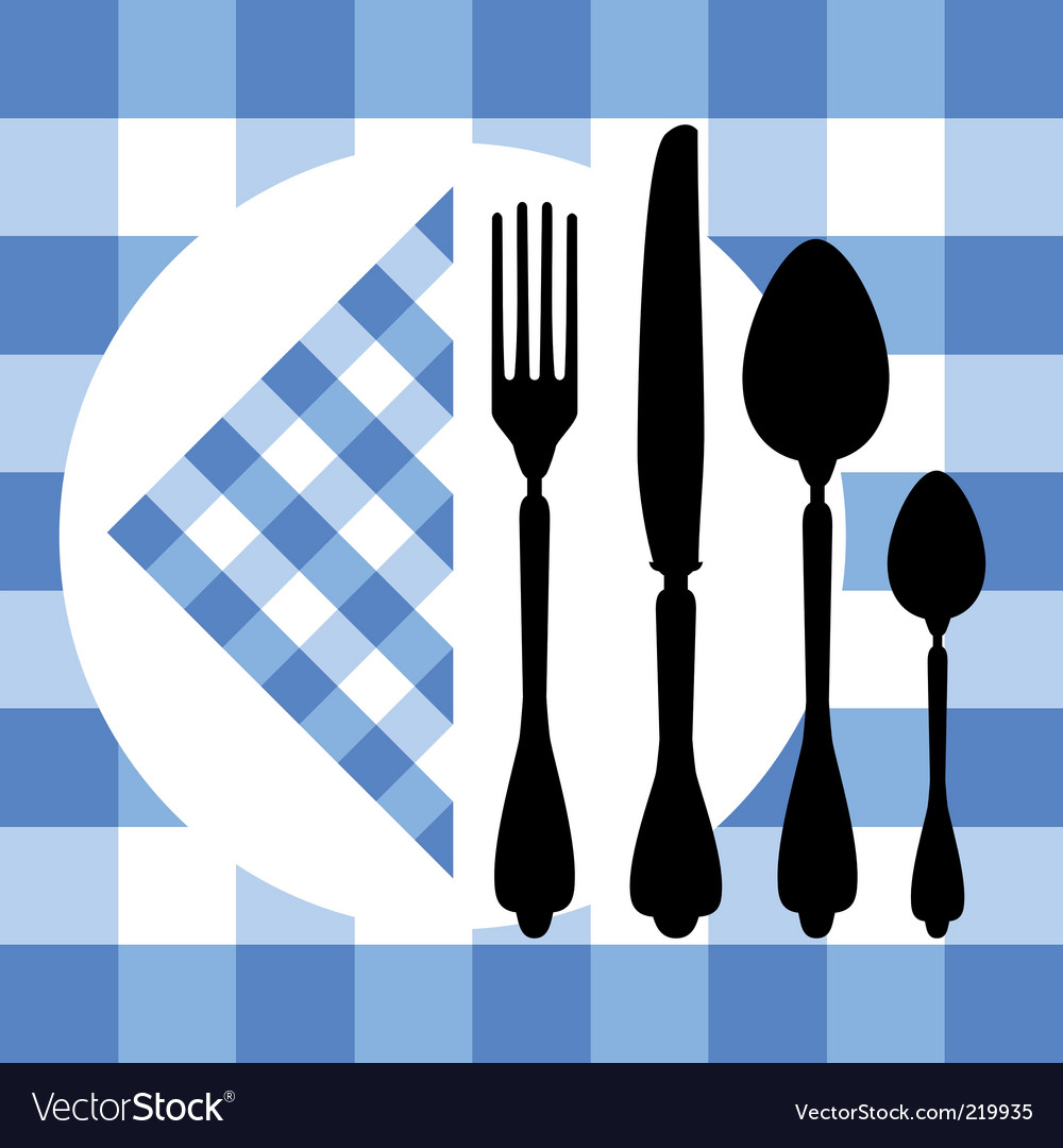 Cutlery silhouette vector