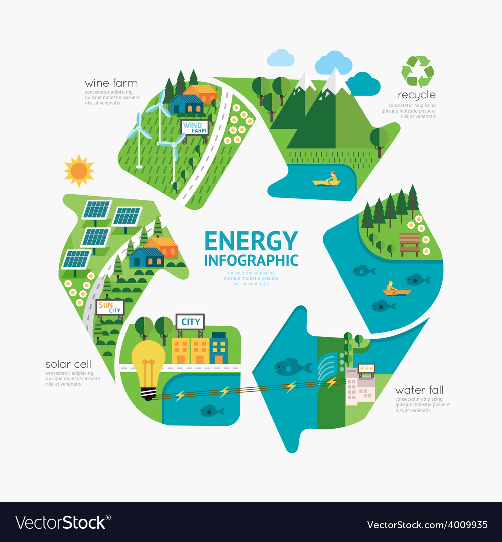 Infographic energy template design concept vector