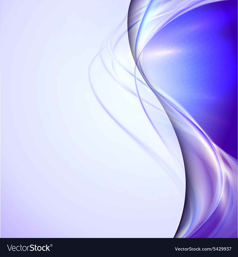 Abstract blue waving background vector