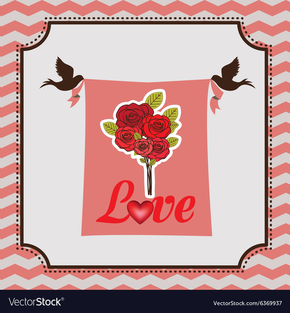 Love card vector