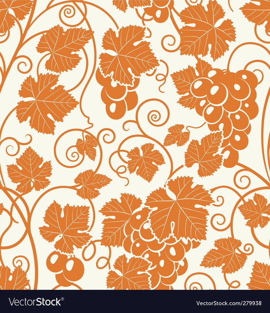 Grape pattern vector