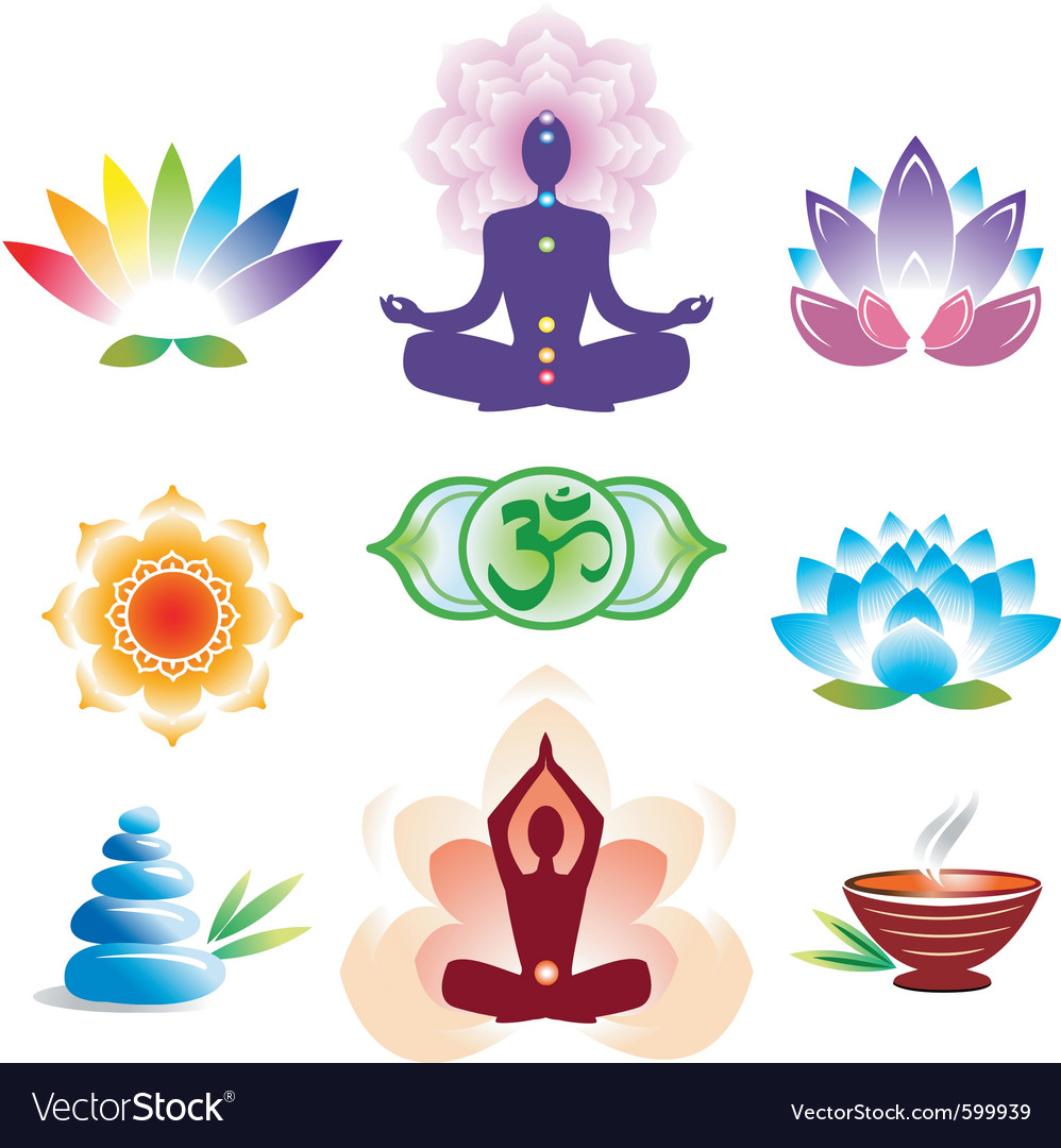 Oriental icons set vector