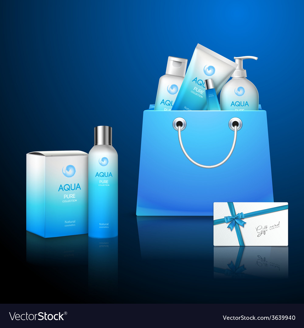 Cosmetics and bag vector