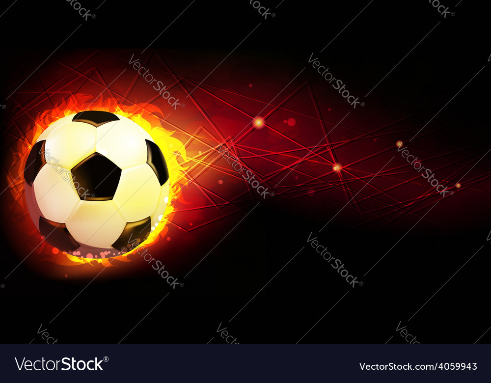 Ball and fire vector