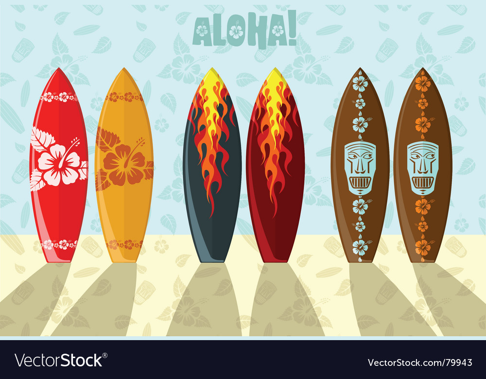 Of surf boards vector