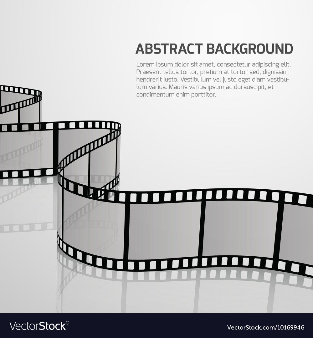 Cinema movie background with retro film vector