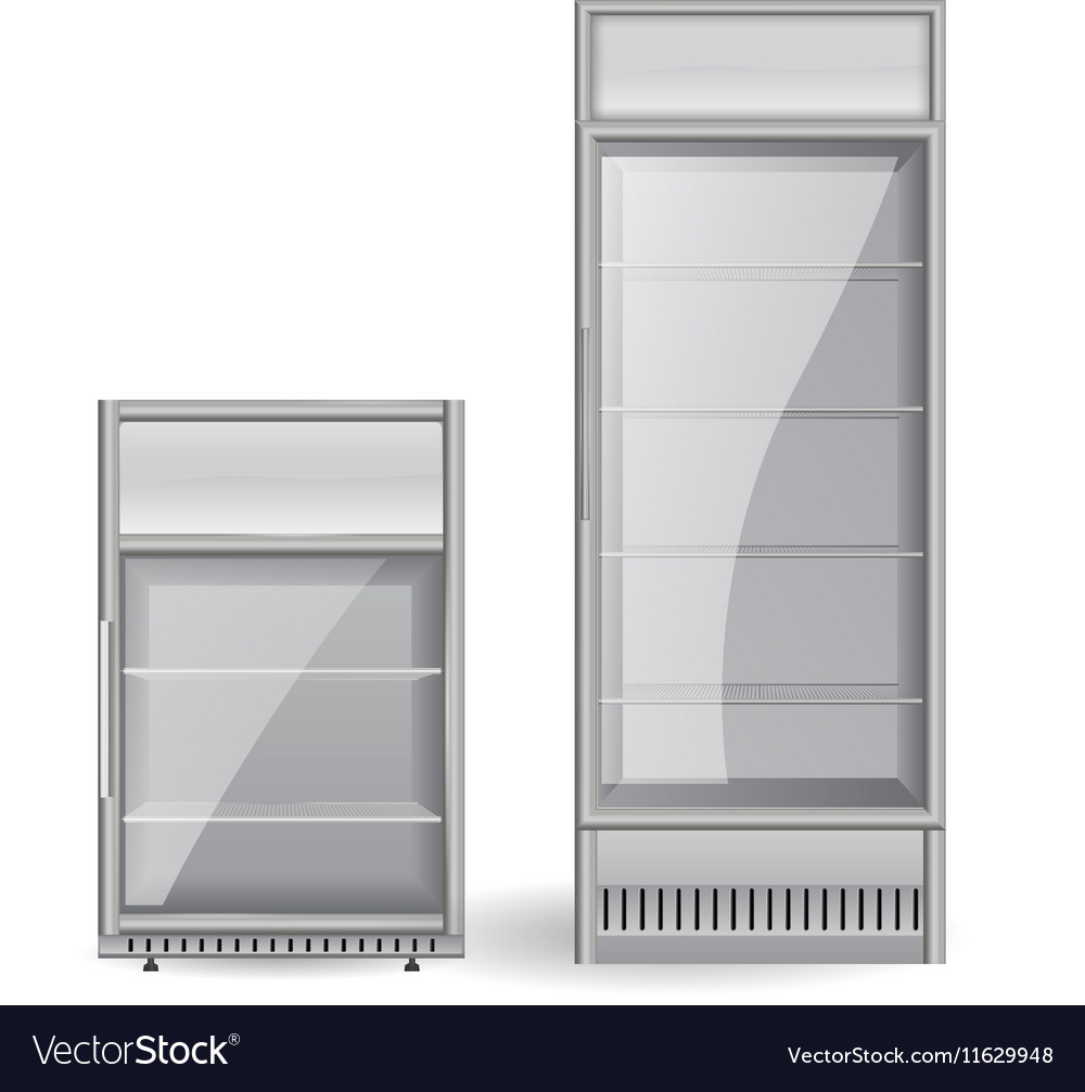Fridge drink glass door vector