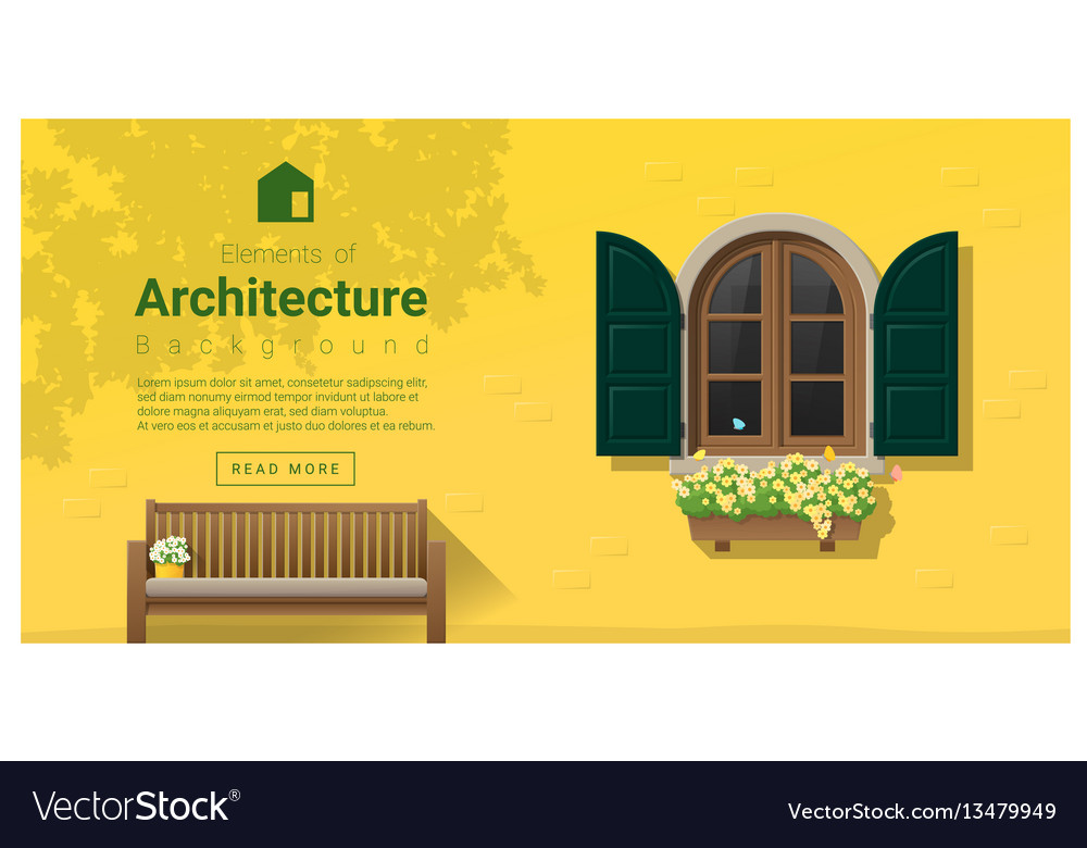 Elements of architecture window background 14 vector